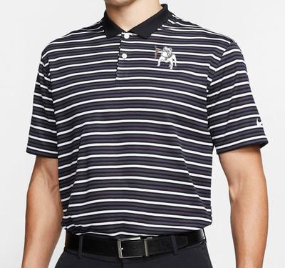 Georgia Nike Golf Retro Bulldog Dry Victory Stripe Polo