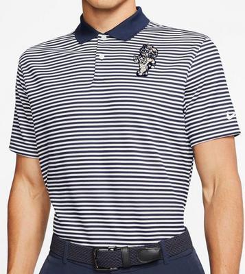 UNC Nike Golf Retro Ramses Dry Victory Stripe Polo