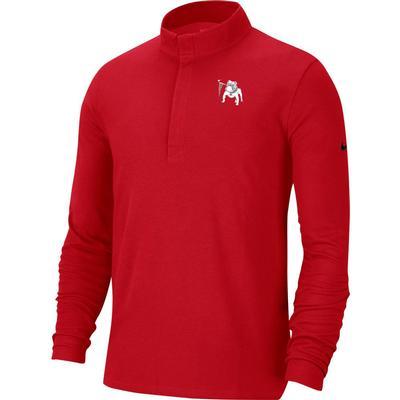 Georgia Nike Golf Retro Bulldog Logo Victory 1/2 Zip Pullover RED