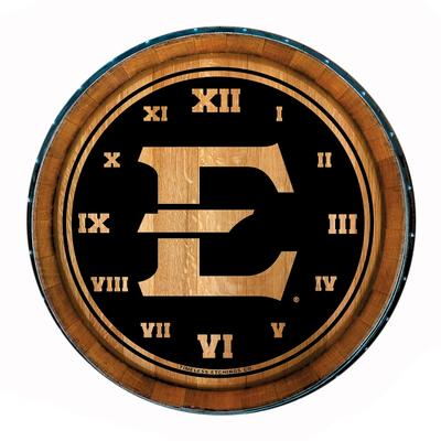 ETSU Timeless Etchings Barrel Clock