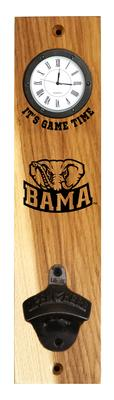 Alabama Elephant Timeless Etchings Clock Opener Wall Mount