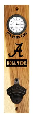 Alabama Roll Tide Timeless Etchings Clock Opener Wall Mount