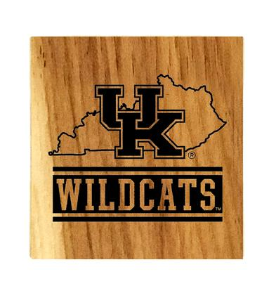 Kentucky Timeless Etchings State Coaster Set