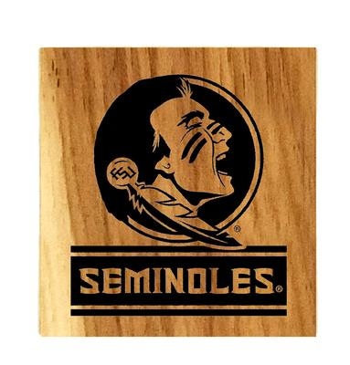 Florida State Seminoles Timeless Etchings Hickory Coaster Set