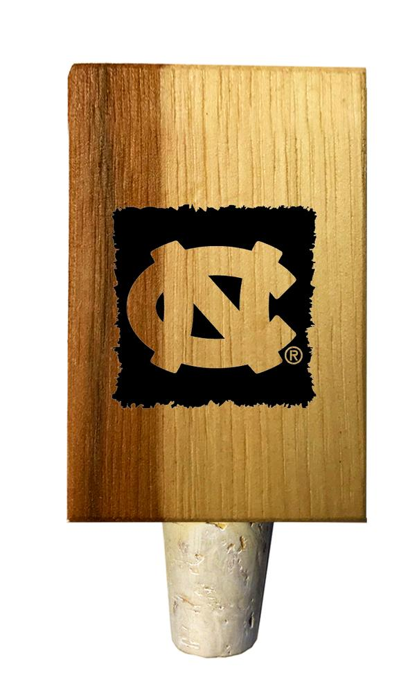 Unc Timeless Etchings Hickory Bottle Stopper