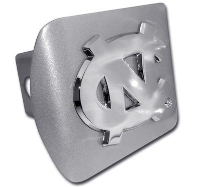 UNC Brushed Chrome Hitch Cover