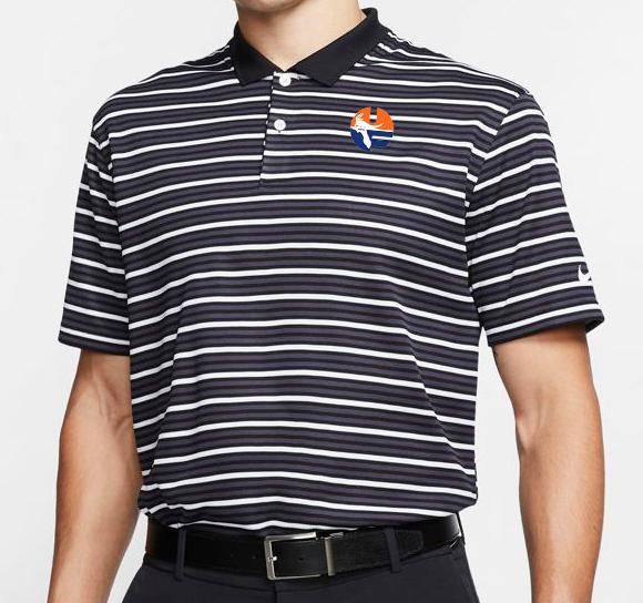 Florida Nike Golf Pell Logo Dry Victory Stripe Polo