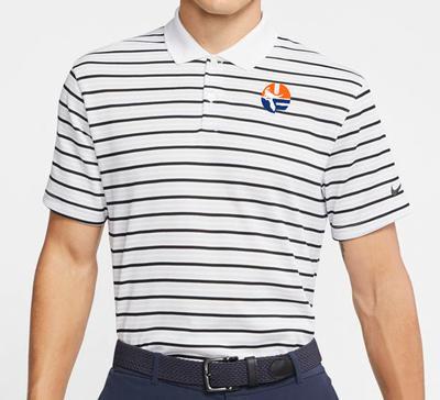 Florida Nike Golf Pell Logo Dry Victory Stripe Polo WHITE
