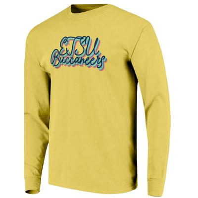 ETSU Women's Rainbow Girly Script Long Sleeve Tee