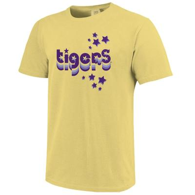 LSU Women's Retro Cutout Stars Short Sleeve Tee
