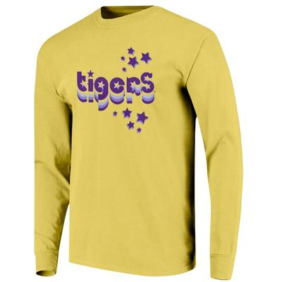 LSU Women's Retro Cutout Stars Long Sleeve Tee