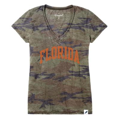 Florida League Camo V-Neck Tee