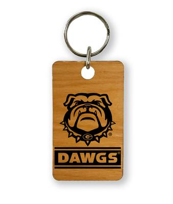 Georgia Timeless Etchings Dawgs Key Chain