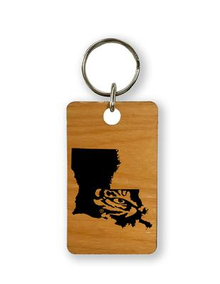 LSU Timeless Etchings Eye State Key Chain