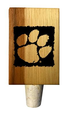 Clemson Timeless Etchings Hickory Bottle Stopper