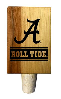 Alabama Timeless Etchings Roll Tide Hickory Bottle Stopper