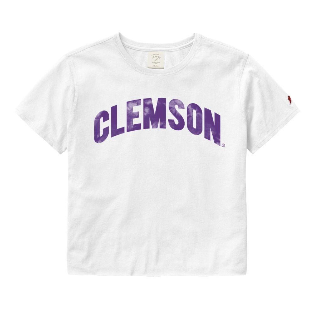 Clemson League Clothesline Crop Top