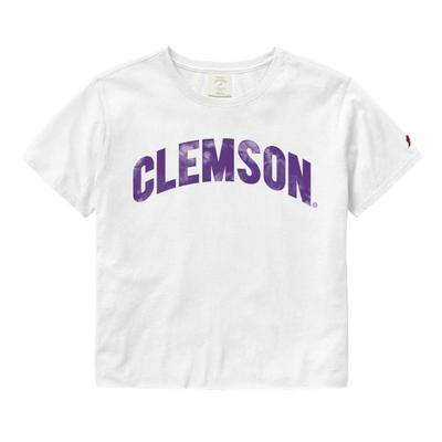 Clemson League Clothesline Crop Top