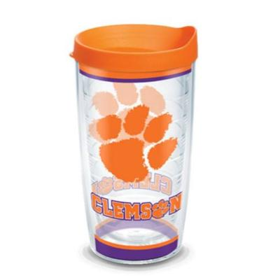 Clemson Tervis 16oz Traditions Wrap Tumbler