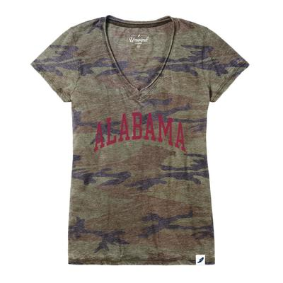 Alabama League Burnout Camo V- Neck
