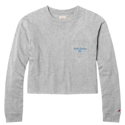 UNC League Clothesline Long Sleeve Crop Top