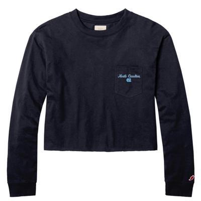 UNC League Clothesline Long Sleeve Crop Top