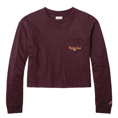 Virginia Tech League Clothesline Long Sleeve Crop Top
