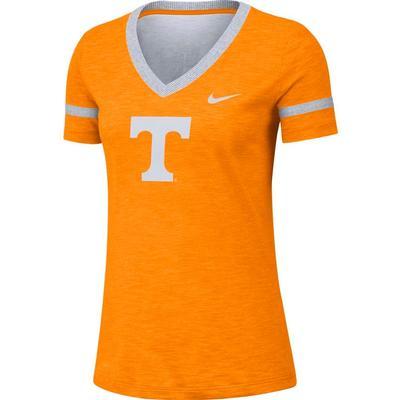 Tennessee Nike Women's Slub V-Neck Tee