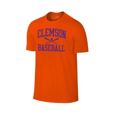 Clemson Basic Baseball Tee Shirt ORANGE