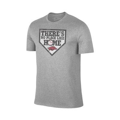 Arkansas No Place Like Home Tee Shirt GREY