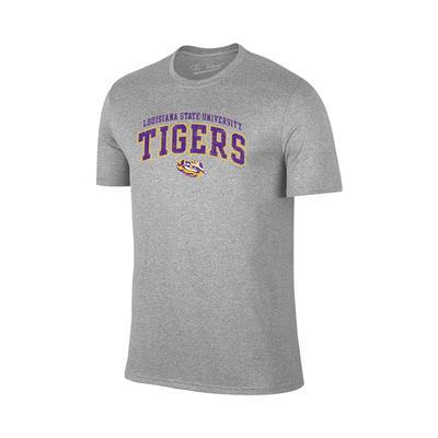LSU Tiger Arch Tee Shirt MIDGREY_HTHR