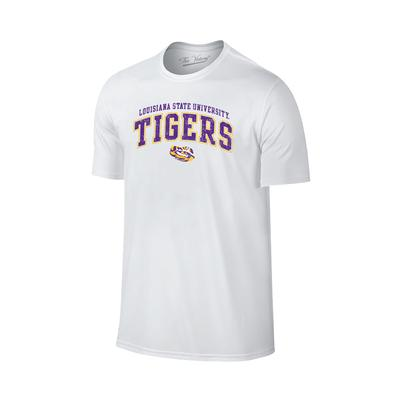 LSU Tiger Arch Tee Shirt WHITE