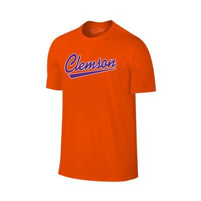 Clemson Script Short Sleeve Tee Shirt