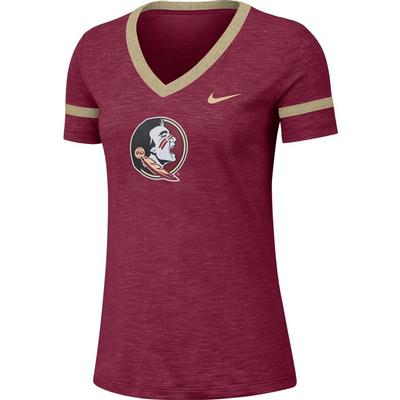 Florida State Nike Women's Slub V-Neck Tee