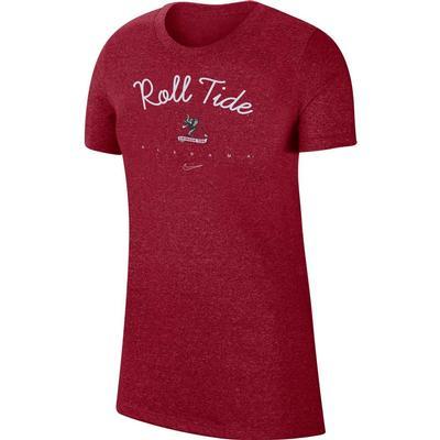 Alabama Nike Women's Marled Crew Tee