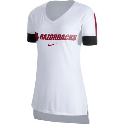 Arkansas Nike Women's Dry Top V-Neck Tee