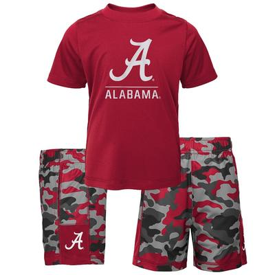Alabama Gen2 Toddler Tee and Camo Short Set