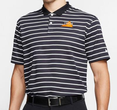 Virginia Tech Nike Golf Tech State Dry Victory Stripe Polo