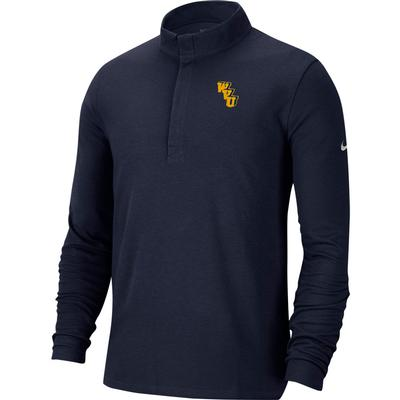 West Virginia Nike Golf Interlock Victory 1/2 Zip Pullover