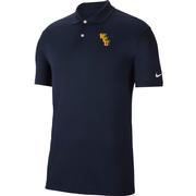 West Virginia Nike Golf Interlock Dry Victory Solid Polo
