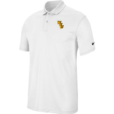 West Virginia Nike Golf Interlock Dry Victory Solid Polo WHITE