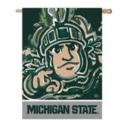 Michigan State Suede House Flag