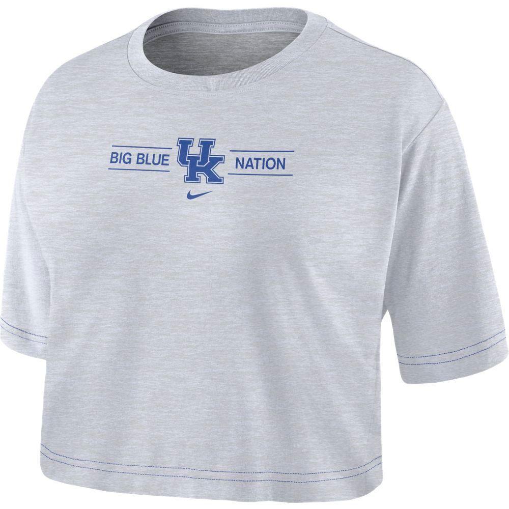 Kentucky Nike Women's Slub Crop Tee