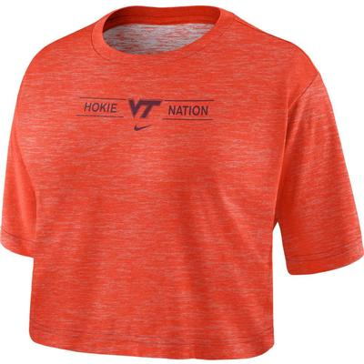 Virginia Tech Nike Women's Slub Crop Tee