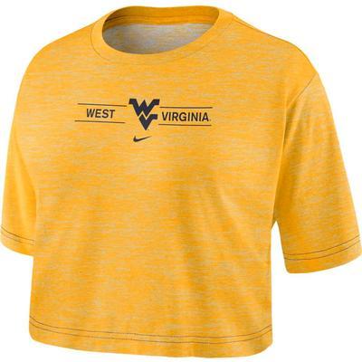 West Virginia Nike Women's Slub Crop Tee