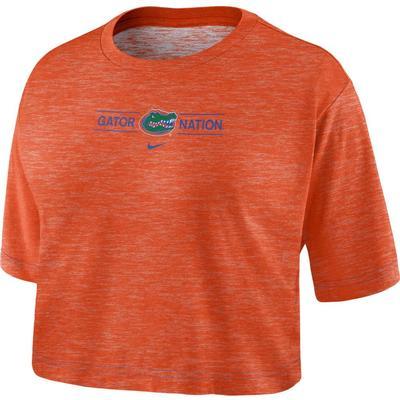 Florida Nike Women's Slub Crop Tee