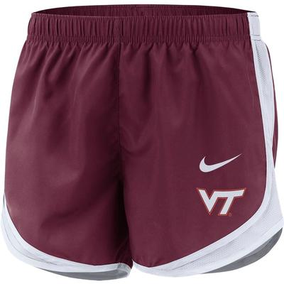 Virginia Tech Nike Women's Tempo Shorts