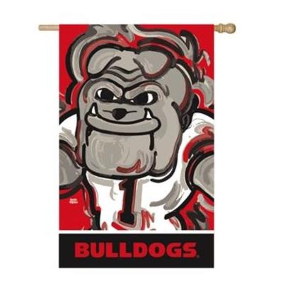 Georgia Mascot Suede House Flag
