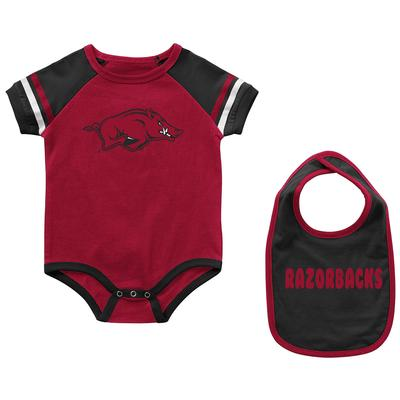 Arkansas Colosseum Infant Warner Onesie and Bib