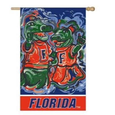 Florida Mascot Suede House Flag